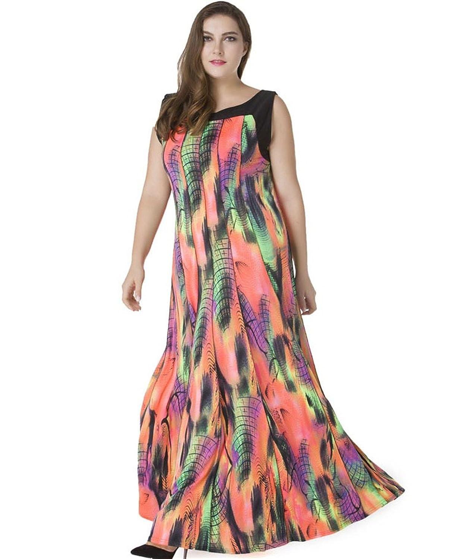 Alle Kleider sommerkleider in übergrößen : Shoppen Sie Chilsuessy Damen Übergröße Sommerkleid Lang Boho ...