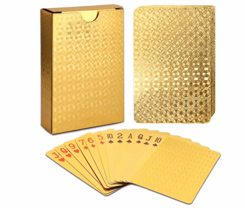 ALI Luxury Playing Cards 100% Waterproof Flexible Plastic 52+2 Poker