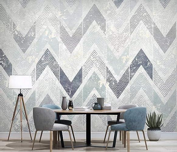 Amazon Com Murwall Zigzag Pattern Wallpaper Chevron Wall