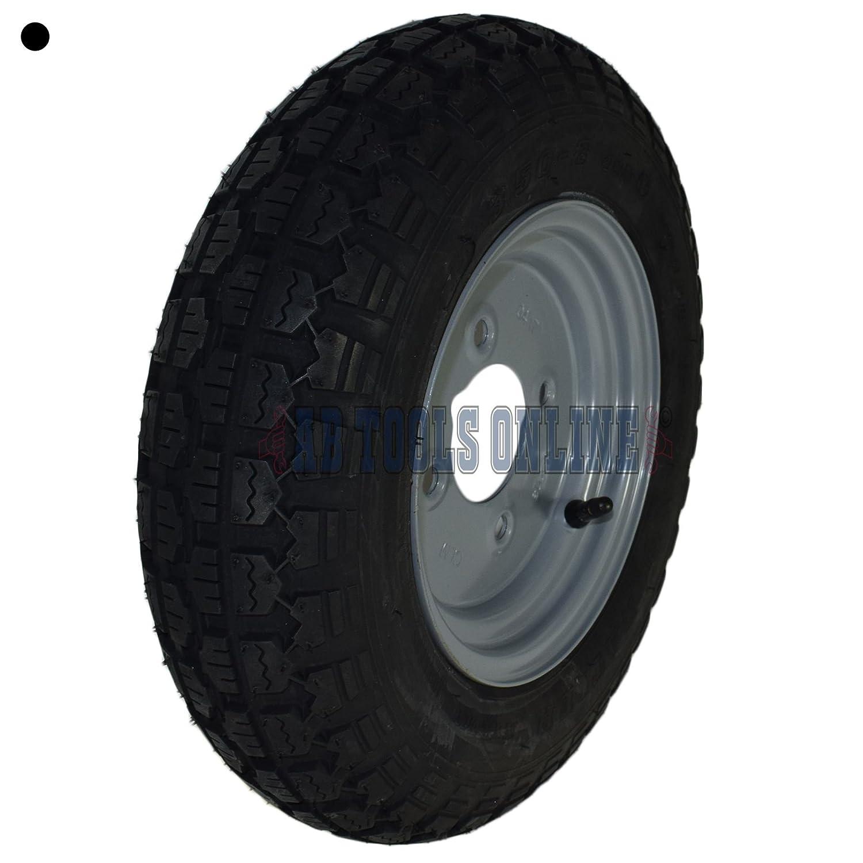 Remolque de neumático y rueda 3.50-8 con 4