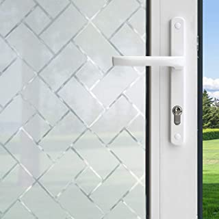 product image for Gila 50188237 Film-36 x6.5 Frosted Tile Decorative Privacy Control Static Cling Window Film 36 x 78-INCH (3 6.5 ft.), 36in x 78in