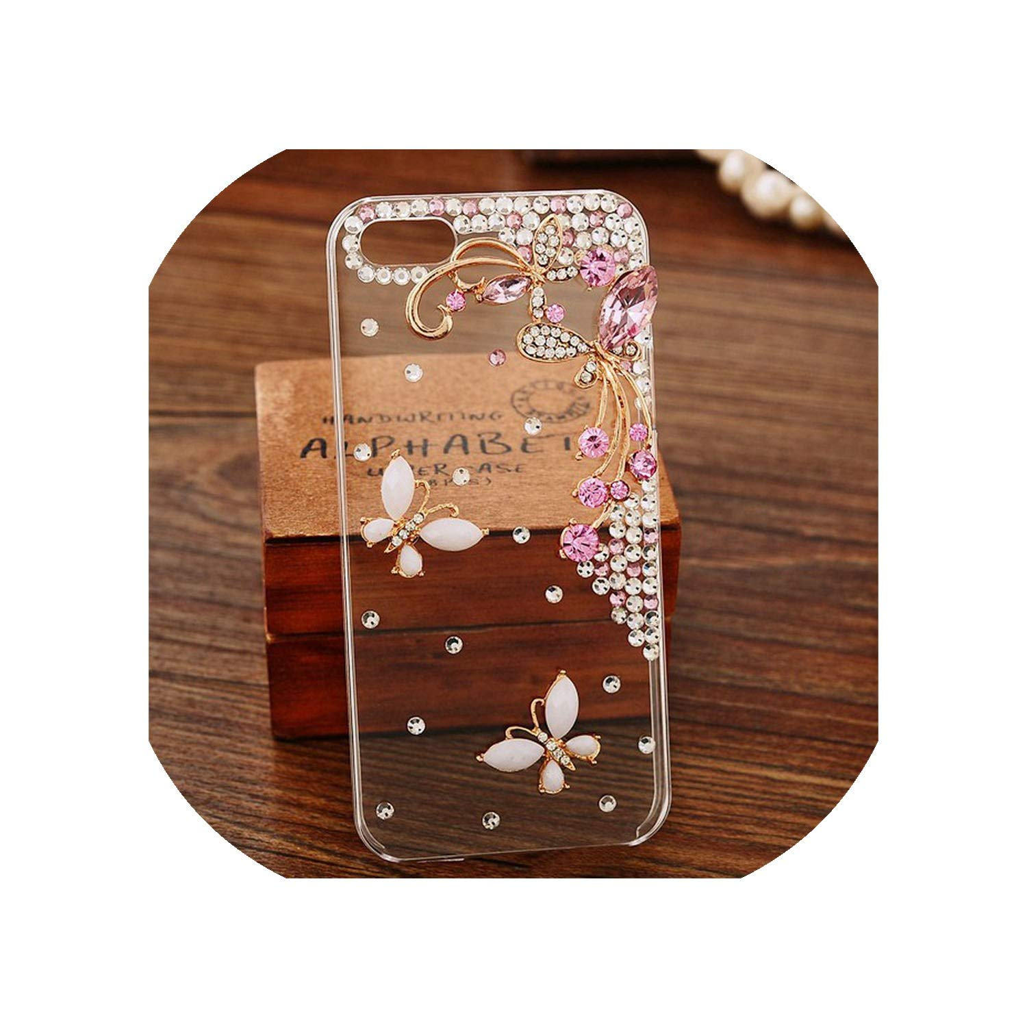 nan Phone-case-Shop Luxury Diamond Case for iPhone X XR XS Max 6 6S 7 8 Plus Crystal Soft Case for iPhone X XR XS Max 6 6S 7 8 Plus Flower Cover,for iPhone 8 Plus,H