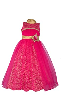 aefb9884e My Lil Princess Baby Girls Birthday Frock Dress Bow Pink Frock 4-10 ...