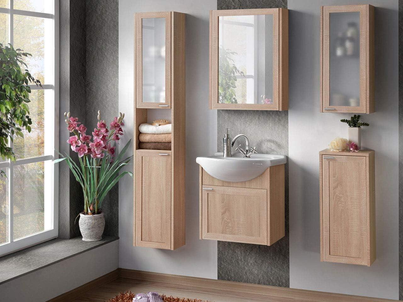 Praktische Badezimmermöbel Sonoma Eiche Hängeschrank ...