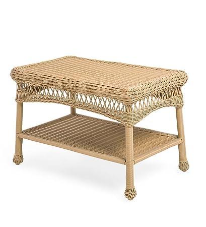 Amazon Com Easy Care Resin Wicker Coffee Table Natural Garden
