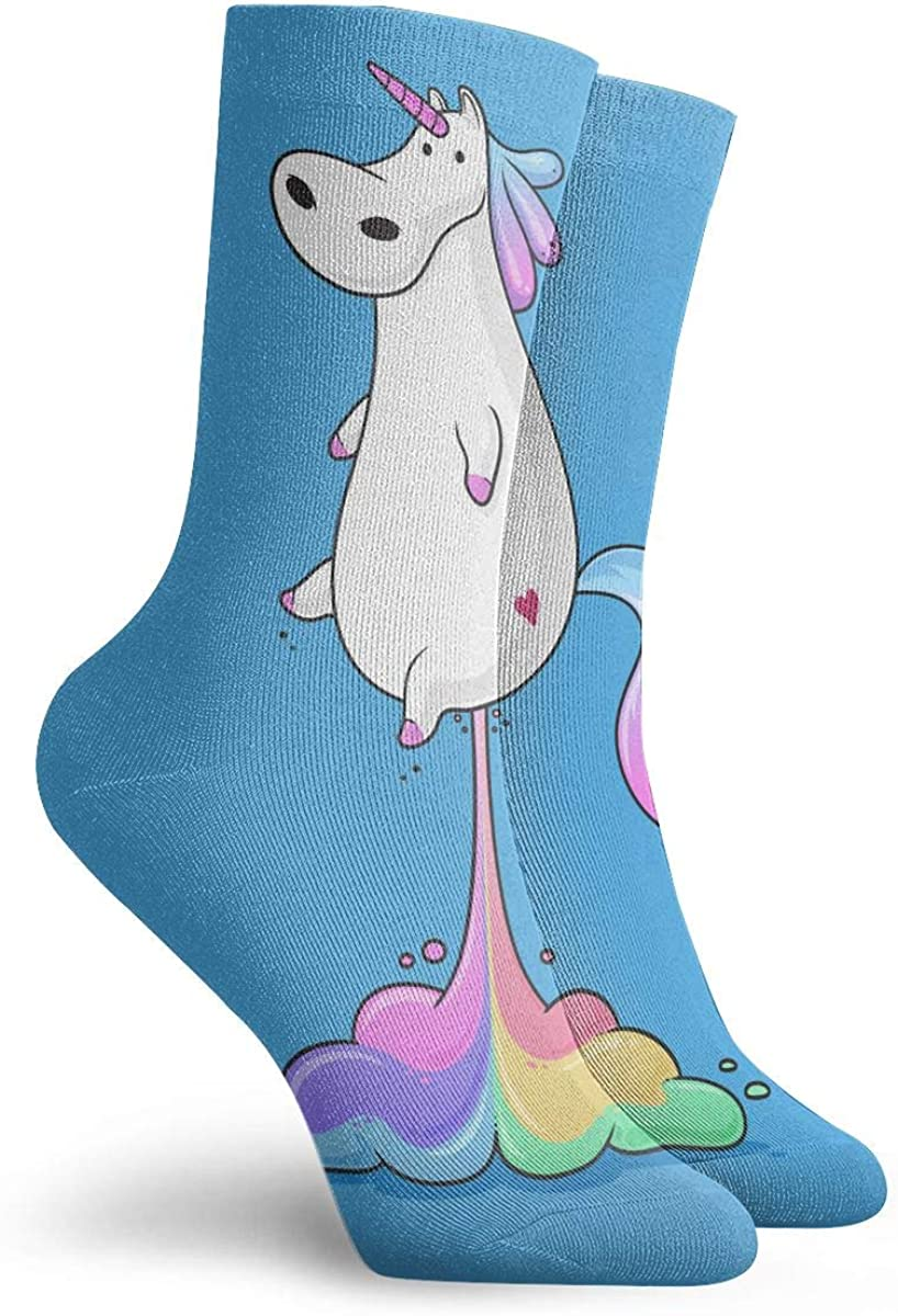 WEEDKEYCAT Rainbows Unicorns Horse Adult Short Socks Cotton Cozy Socks for Mens Womens Yoga Hiking Cycling Running Soccer Sports