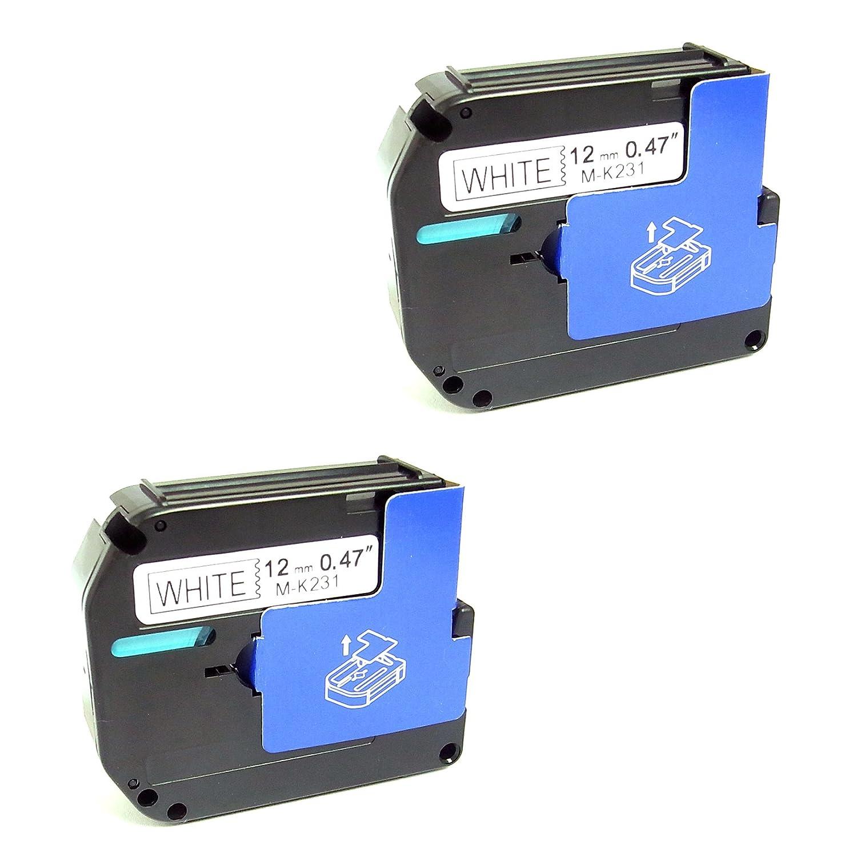 Sienoc Compatible for Brother P-touch Labels M-K231 MK231 M-231 WHITE Tape Black On White PT55BM, PT55S, PT65, PT65SB, PT70, PT80, PT85, PT90, PT100, PT110 (4 Pack Black on White) Generic