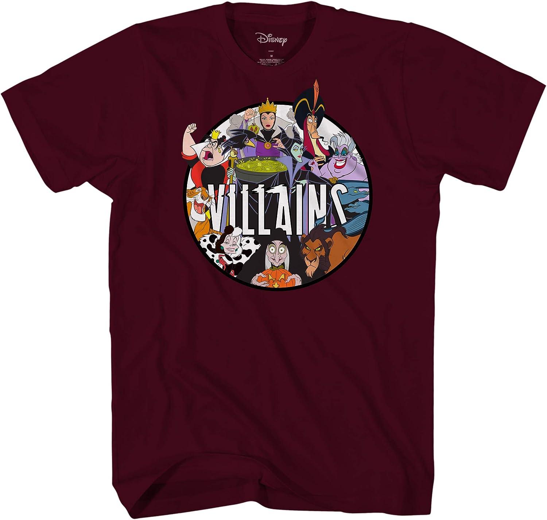 Disney Villains Group Gaston Ursula Maleficent Scar Hook Mens T-Shirt