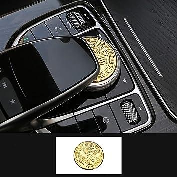 29mm Car Multimedia Control Button Knob Emblem Sticker Badge for Mercedes Benz