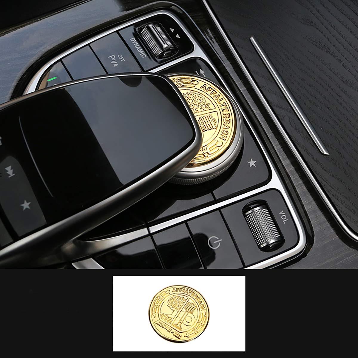 TopDall Mercedes-Benz AMG Interior Media Multimedia Control Decal Sticker Badge Luxury Decoration Affalterbach Tree Logo for C Class//GLC Class//E Class
