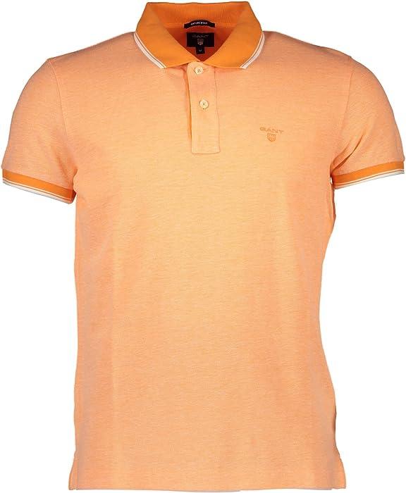 detaljerad look Storbritannien första titt Gant 1601.222107 Polo Shirt Short Sleeves Men Orange 815 S: Amazon.co.uk:  Clothing