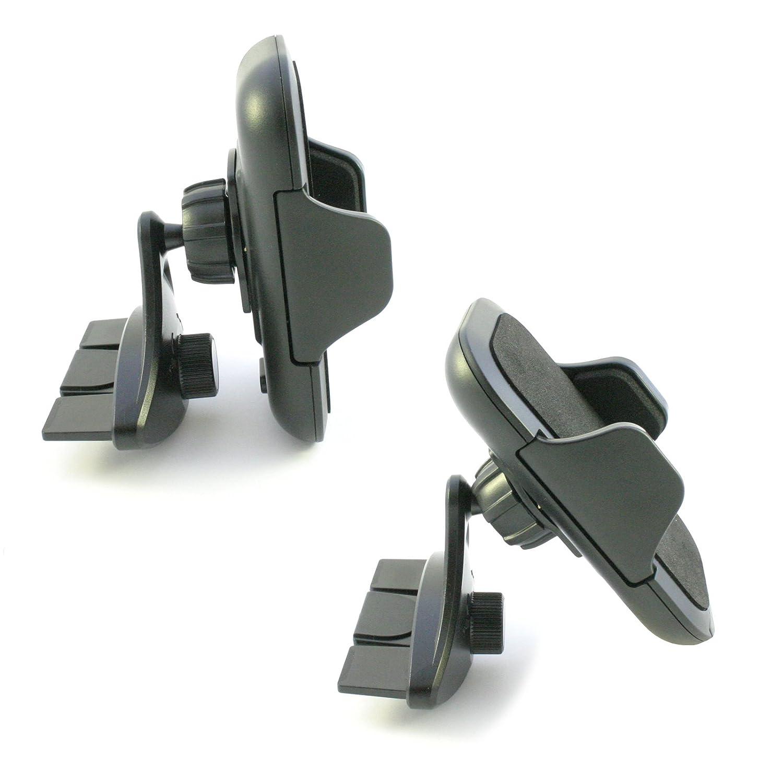 SONY Xperia XZ2 XZ1 XZs XZ Z5 Z3 Z2 Z1 Z X E5 XA2 XA1 XA M5 M4 M2 ZL E E1 E3 E4g L L1 L2 + Compact Premium Ultra Aqua Plus am11 Compartimiento Negro Soporte Coche Ranura CD scozzi 360/° Para