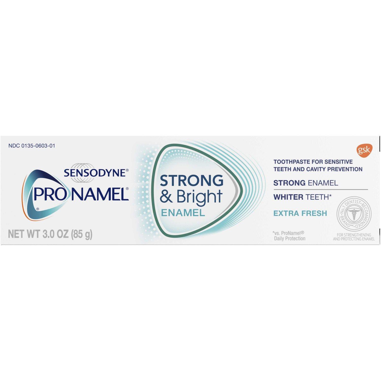 Sensodyne Pronamel Strong & Bright Toothpaste for Sensitive Teeth, Extra Fresh, 3.0 oz