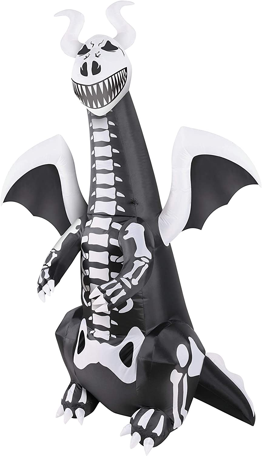 Occasions 7' Inflatable Skeleton Dragon
