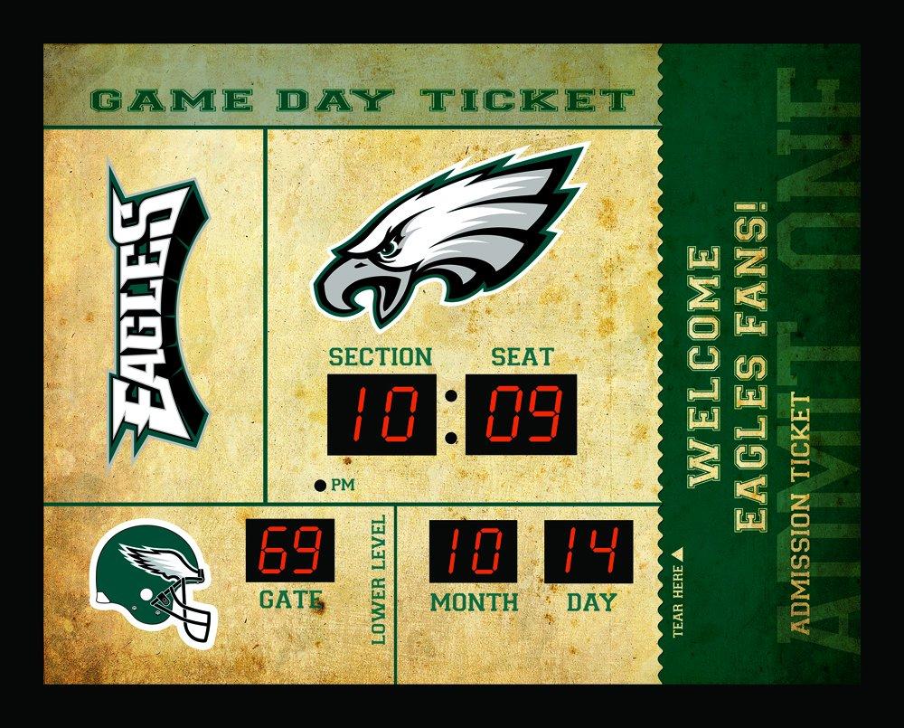 Team Sports America Philadelphia Eagles Bluetooth Scoreboard Wall Clock by Team Sports America