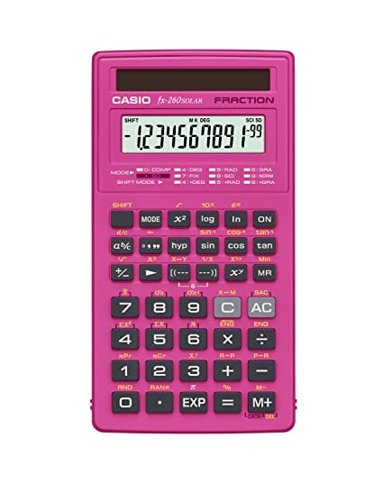 Amazon Casio Fx 260 Solar Scientific Calculator Pink Electronics