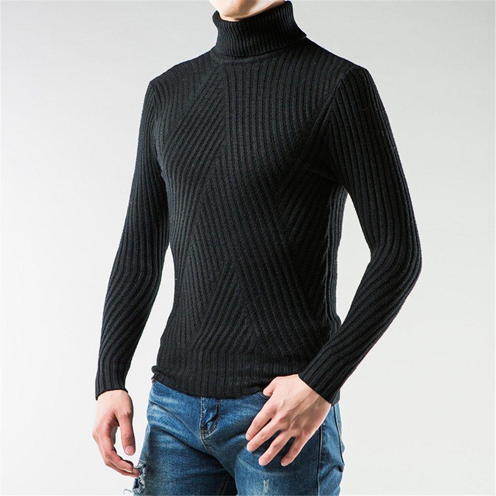 Jdfosvm männer - Mode - Winter, männer mit Langen ärmeln Rollkragen - Pullover Kopf,schwarz,l