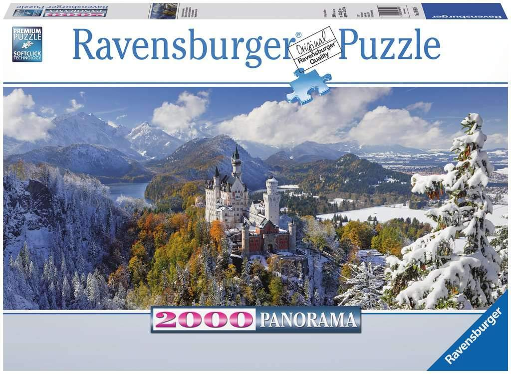 Ravensburger Neuschwanstein Castle 2000 Piece Panorama XXL Jigsaw Puzzle for Adults – Softclick Technology Means Pieces Fit Together Perfectly