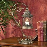 Leaf and Vine Scroll Pillar Candle Holder Lantern