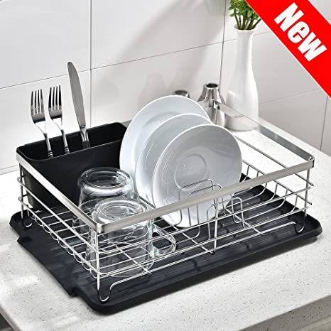 Charmant POPILION Quality Kitchen Sink Side Draining Chrome Stainless Steel Dish Drying  Rack,Dish Rack With