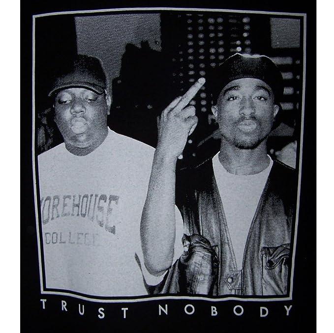 f3a7857d0 2Pac Tupac Shakur Biggie Big Trust Nobody Cotton Hip Hop T-Shirts Men's  Size: