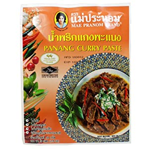 Panang Curry Paste 50 G (1.76 Oz.) Thai Herbal Food X 4 Bags