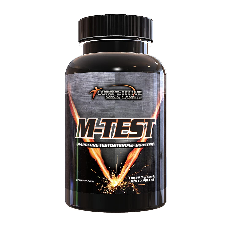 M-Test: Hardcore Testosterone Booster, 180 Capsules