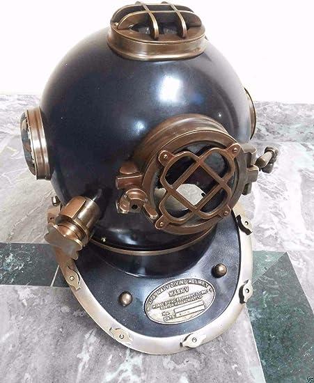 Antique Divers Diving Helmet Scuba US Navy Mark V Deep-Sea Marine Diving Helmet