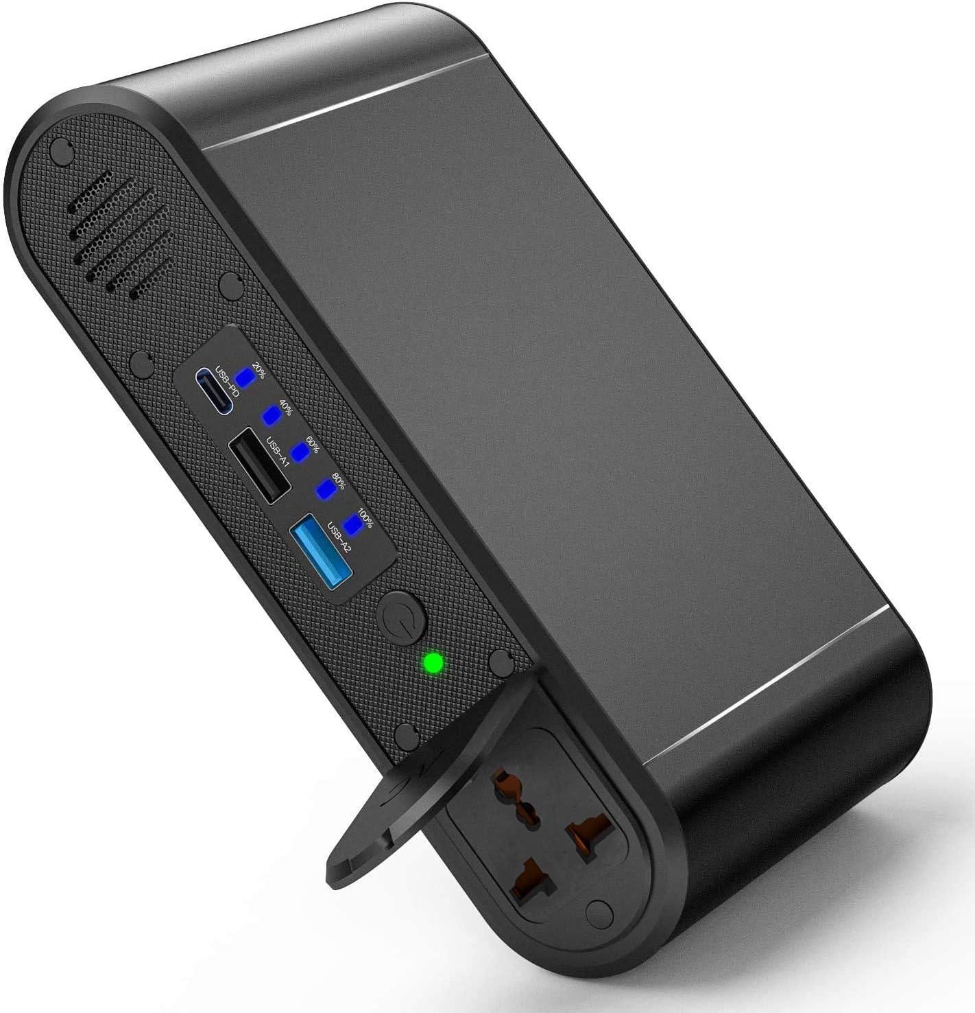 Powerstation, PD 45 W Powerbank 30000 mAh batería externa 120 W Cargador portátil con puerto USB Universal Powerstation Cargador de viaje para ...