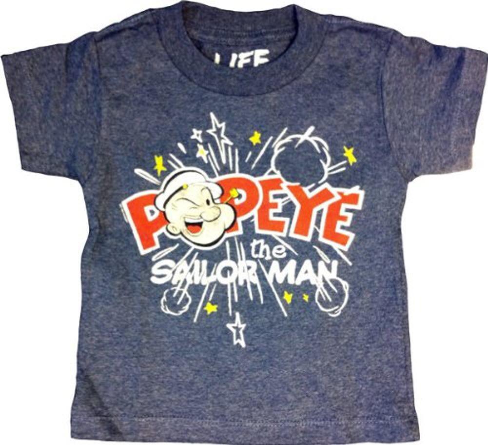 Popeye The Sailorman Pop Stars Navy Heather T Shirt
