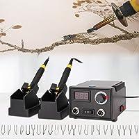 GJCrafts Pyrografie Machine Verstelbare Temperatuurregeling, Pyrografie Pen Hout Brandende Kit met een Digitaal Display…