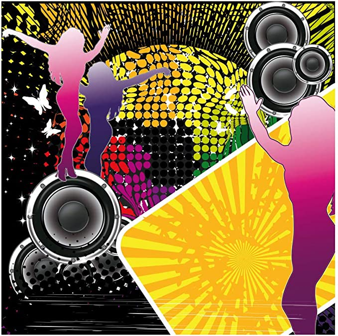 Baocicco 7x5ft Back to 70s Backdrop 70s Party Backdrop for Photography Retro Tapes Background Vintage Music Party Disco Party Children Adults Artistic Portrait Studio Video Props
