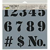 Crafters Workshop Number Crafter's Workshop Template, 12-Inch by 12-Inch