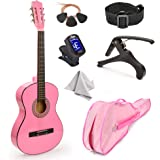"30"" Wood Guitar with Case and Accessories for Kids/Girls/Boys/Beginners (Pink)"