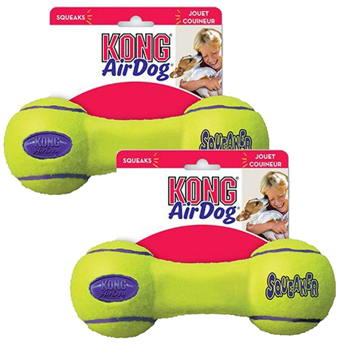 Medium 2 Pack KONG Air Dog Squeaker Dog Toy