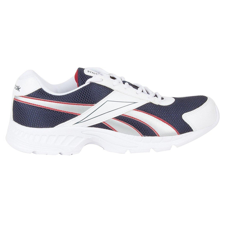 Le Acciomax Des Hommes Reebok Iii Lp Blanc Et Bleu Marine Maille Chaussures De Course i5syjtwl0
