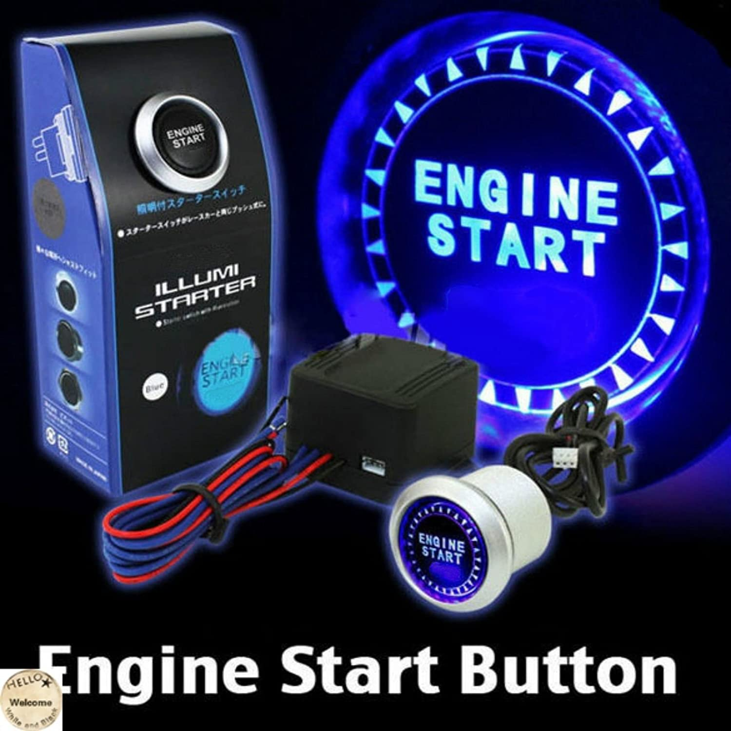 Universal 12v Car Engine Start Push Button Switch The Electric Igniter 2 Automotivecircuit Circuit Diagram Ignition Starter Kit Blue Led Automotive