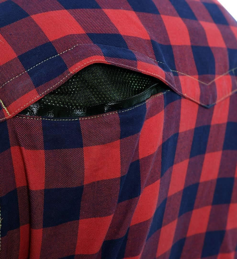 Wasserabweisend Rot-Schwarz Kariert Gr/ö/ße M Bores Lumberjack Jacken-Hemd Rei/ßfest