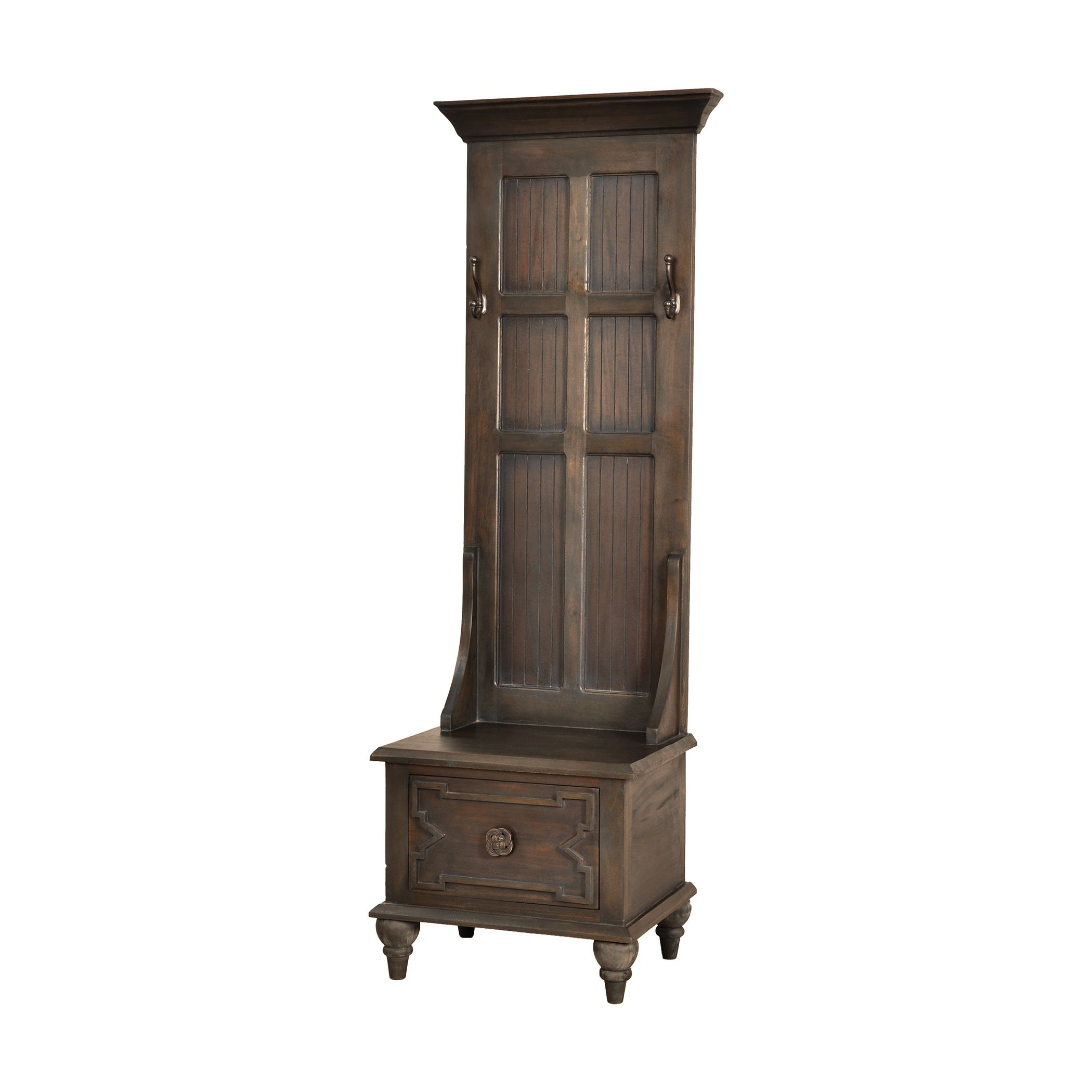 Hamptons Collection Tobin Hall Tree In Heritage Grey Stain