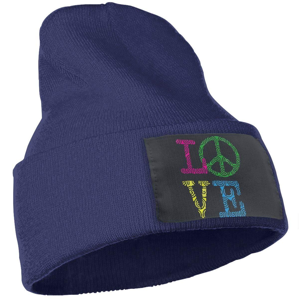 Love Peace Sign Men Women Winter Warm Wool Cap