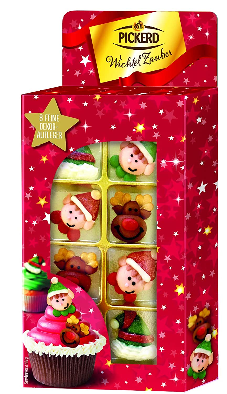 1er Pack Decocino Zuckerdekor Weihnachten HOCHWERTIGE Zuckerdekore von DEKOBACK  4 Motive Kuchendeko Weihnachten kaufen zum Dekorieren von Weihnachtskuchen und Weihnachtspl/ätzchen 12 St/ück, 31 g