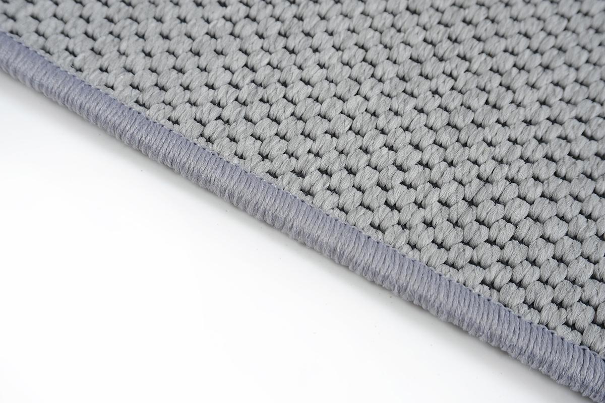 Flachgewebe Teppich Läufer Sahara Grau nach Maß - versandkostenfrei robuste Kunstfaser in Sisal-Optik schadstoffgeprüft pflegeleicht strapazierfähig dekorativ Wohnzimmer Schlafzimmer Büro Flur Diele, Größe Auswählen:100 x 1450 cm