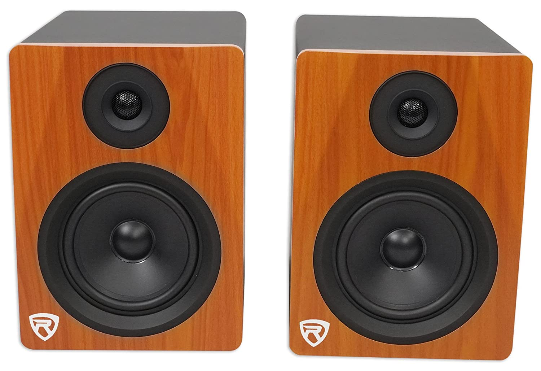 Rockville APM8W 8 2-Way 500W Active/Powered USB Studio Monitor Speakers Pair, White Audiosavings