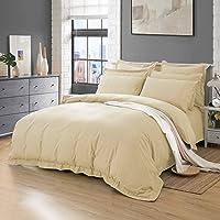 Tailored 1000TC Ultra Soft Quilt Cover Set Duvet Cover Set Doona Cover Set AU Size Bed (Double Size, Cream)