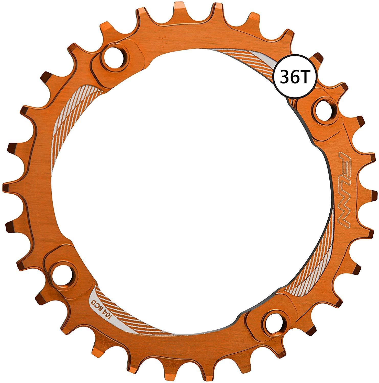 Funn Solo Narrow Wide Chain Ring BCD 104mm (36T Orange)