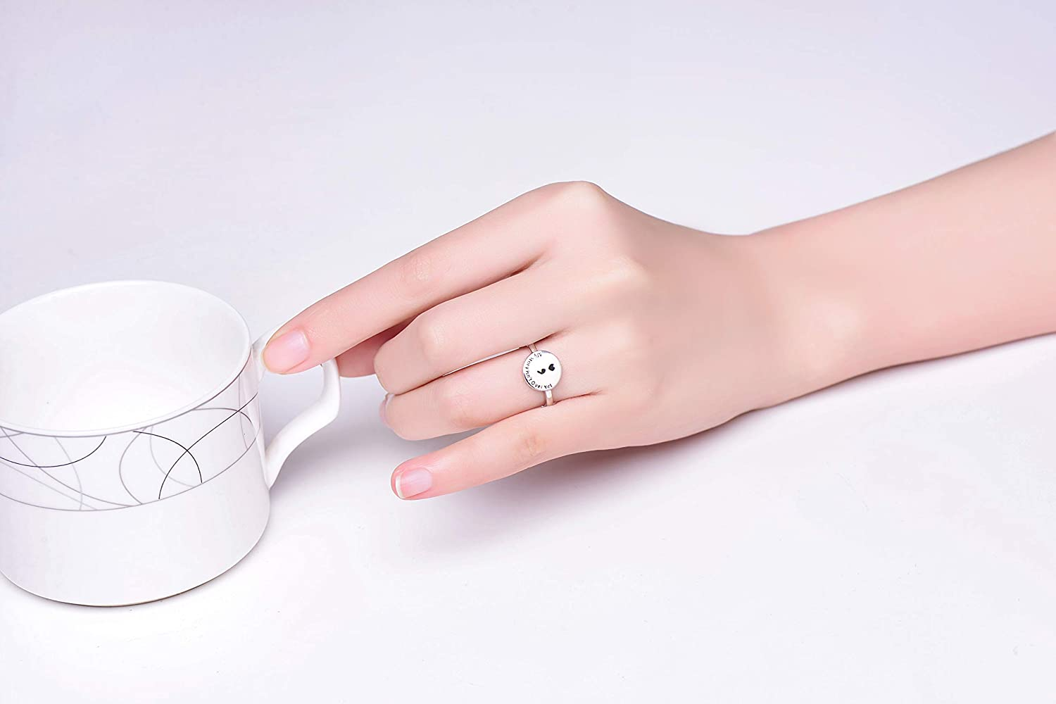 SILBERTALE Sterling Silver Semicolon Ring for Women My Story Isnt Over Yet Semicolon Jewelry