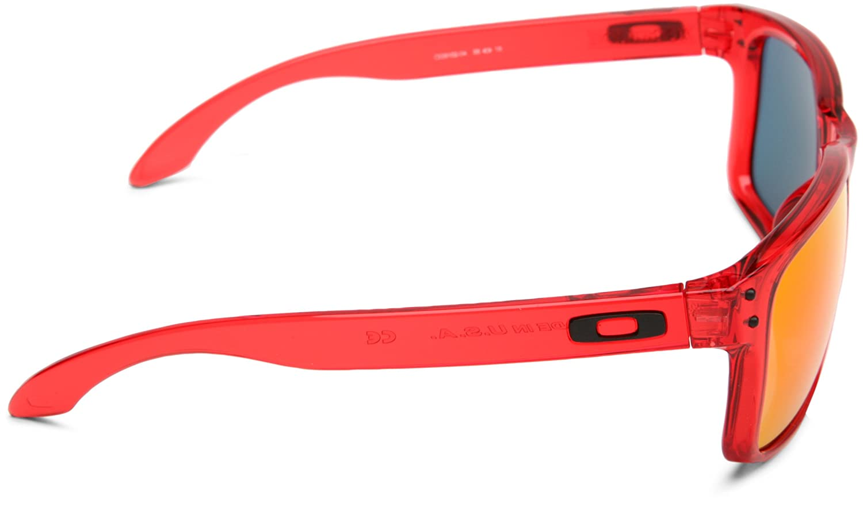 2a8e97e10ec4 Oakley Herren Sonnenbrille Holbrook, crystal red ruby iridium, OO9102-04   Amazon.de  Sport   Freizeit