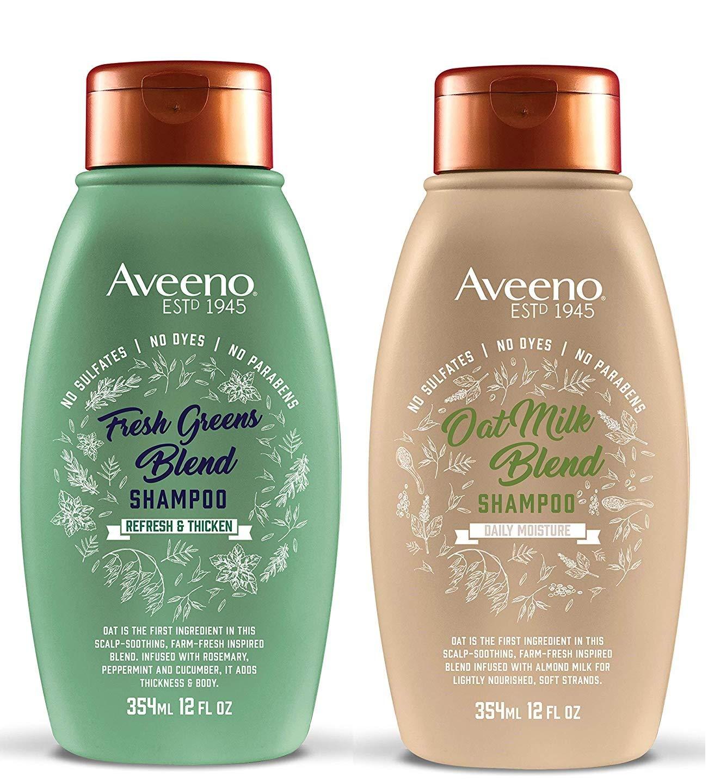 Fresh Greens Blend Shampoo & Oat Milk Blend Shampoo (12 FL OZ Each) - Set of 2