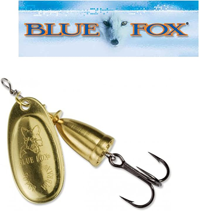 Spinnköder Blue Fox Vibrax goldfarben Spinner Kunstköder Raubfischköder