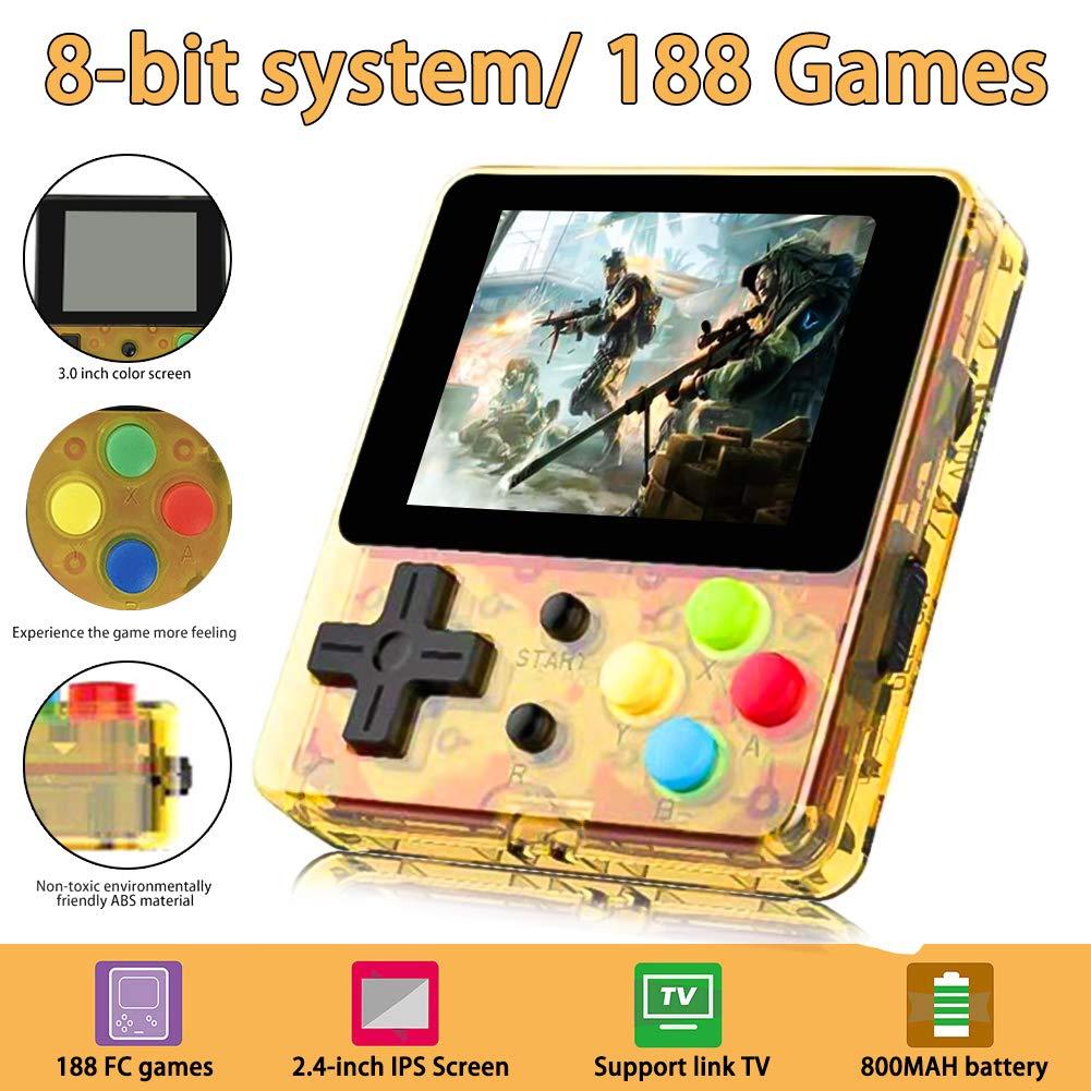 Konsole Spielkonsole Classic Portable Retro Game Player 188 Klassische Spiele 2.4 Zoll Mini Family TV Games f/ür Junge und M/ädchen Geschen Toys jpkoekw Handheld Spielkonsole